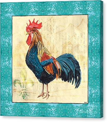 Tiffany Rooster 2 Canvas Print by Debbie DeWitt