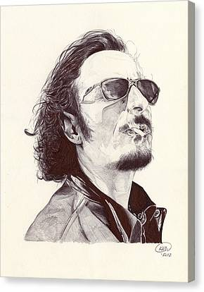 Tig Trager Canvas Print by Kyle Willis