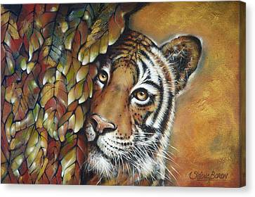 Tiger 300711 Canvas Print by Selena Boron