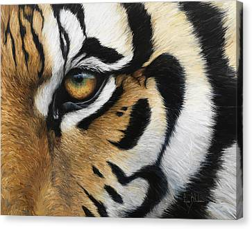 Tiger Eye Canvas Print by Lucie Bilodeau