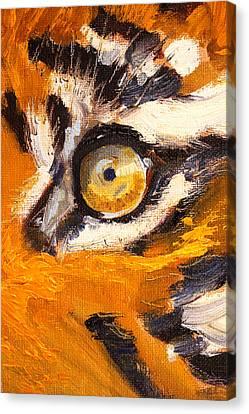 Tiger Eye Canvas Print by Nancy Merkle