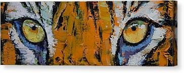 Tiger Eyes Canvas Print by Michael Creese