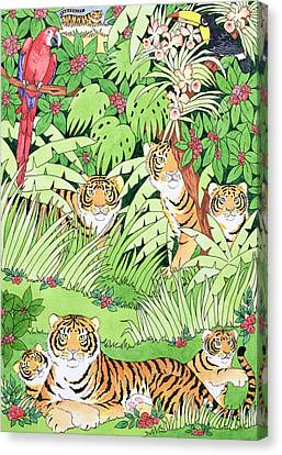Tiger Jungle Canvas Print by Suzanne Bailey