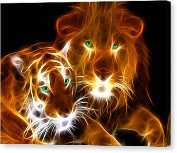 Tiger Lion  Canvas Print by Mark Ashkenazi
