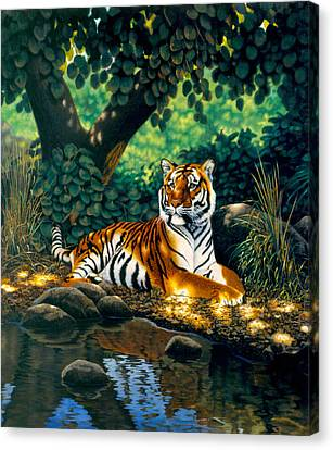 Tiger Canvas Print by MGL Studio - Chris Hiett