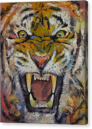 Tiger Canvas Print by Michael Creese