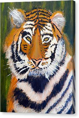 Tiger Canvas Print by Pamela  Meredith