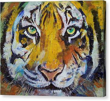 Tiger Psy Trance Canvas Print by Michael Creese