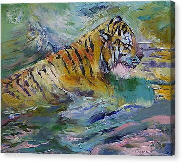 Tiger Reflections Canvas Print by Michael Creese