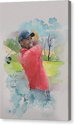Tiger Woods Canvas Print by Catf
