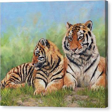 Tigers Canvas Print by David Stribbling
