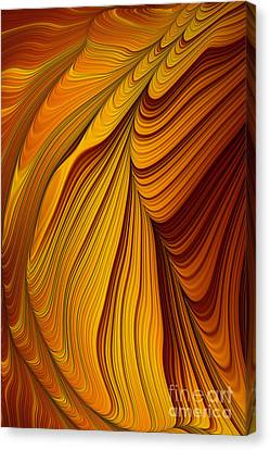 Tiger's Eye Abstract Canvas Print by John Edwards