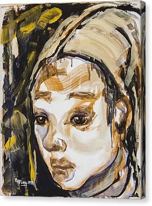 Tiggy Canvas Print by May Ling Yong