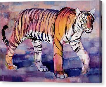 Tigress, Khana, India Canvas Print by Mark Adlington