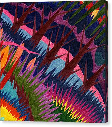 Tile 37 - These Woods Are Lovely Canvas Print by Sean Corcoran