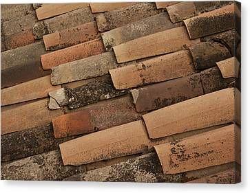 Tile Roof Of Gordes Canvas Print by Karma Boyer