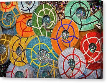 Tiled Swirls Canvas Print by Adam Romanowicz
