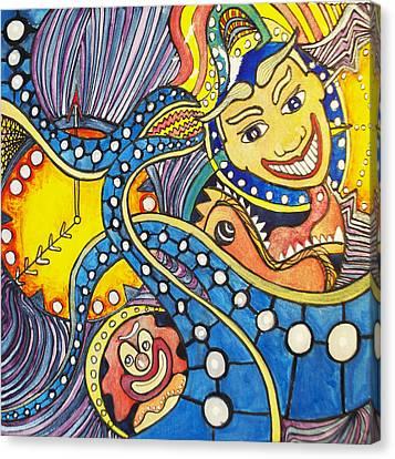 Tillies Funhouse Design Canvas Print by Patricia Arroyo