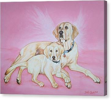 Tilly And Forrest Canvas Print by Beth Clark-McDonal