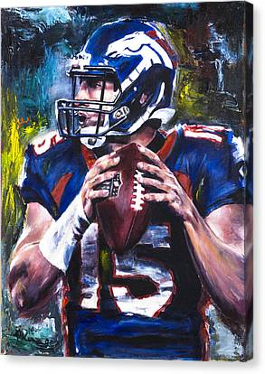 Tim Tebow Canvas Print by Mark Courage