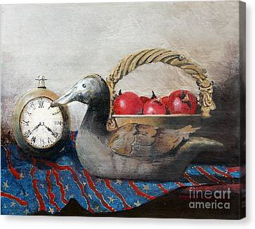 Time Passes Canvas Print by Monte Toon
