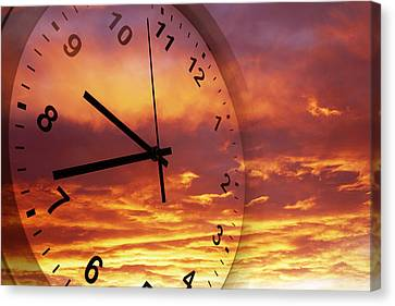 Time Passing Canvas Print by Les Cunliffe