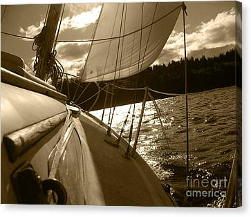 Time To Jibe  Canvas Print by Kym Backland