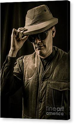 Time Traveler Canvas Print by Edward Fielding