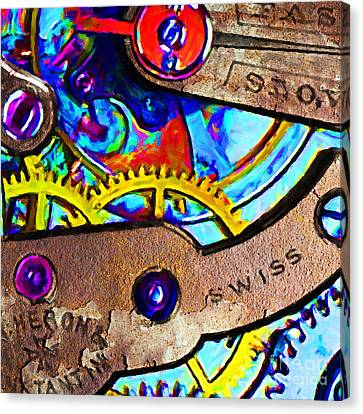 Time Waits For Nobody 20130605 Square Canvas Print by Wingsdomain Art and Photography
