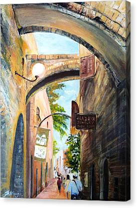 Timeless Alleys Canvas Print by Betty M M   Wong