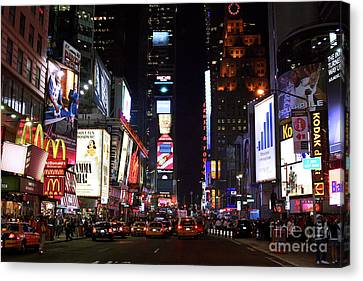 Times Square Colors Canvas Print by John Rizzuto