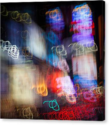 Times Square Canvas Print by Dave Bowman