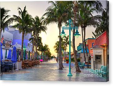 Times Square Fort Myers Beach Canvas Print by Timothy Lowry