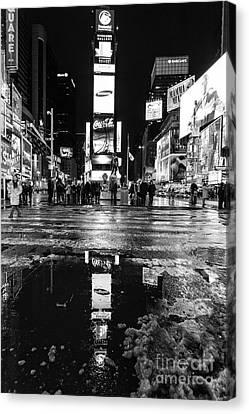 Times Square Monochromatic  Canvas Print by John Farnan