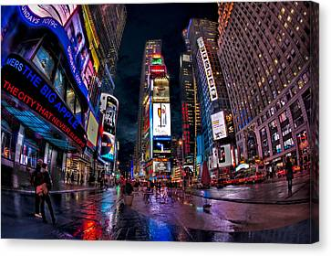 Times Square New York City The City That Never Sleeps Canvas Print by Susan Candelario