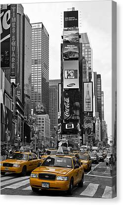 Times Square Nyc Canvas Print by Melanie Viola