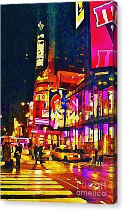 Times Square Two Canvas Print by John Malone