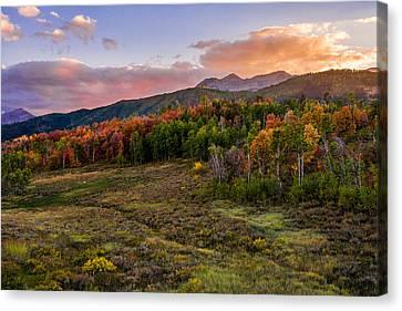 Timp Fall Glow Canvas Print by Chad Dutson
