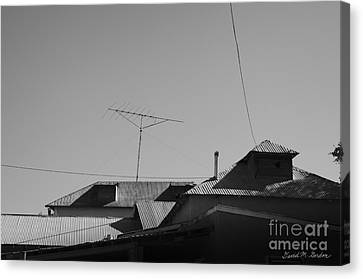 Tin Rooftops Chimayo New Mexico Canvas Print by David Gordon