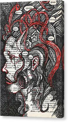 Tin Woman Canvas Print by Stacey Pilkington-Smith