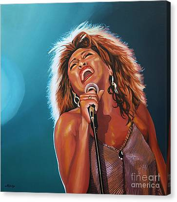 Tina Turner 3 Canvas Print by Paul Meijering