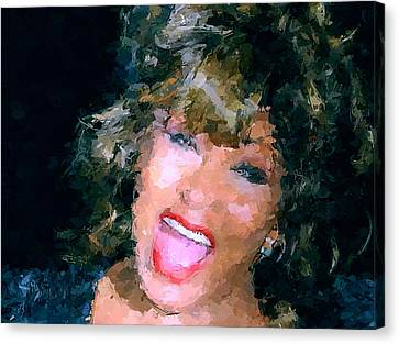 Tina Turner Live Canvas Print by Yury Malkov
