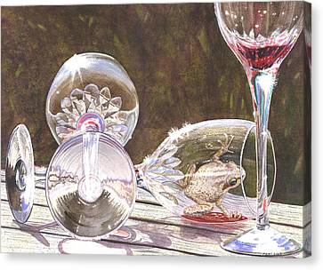 Tipsy Canvas Print by Catherine G McElroy