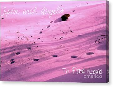 Tiptoe With Angels To Find Love Canvas Print by Mike Grubb