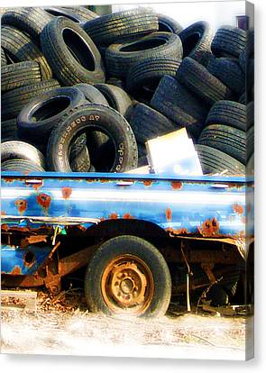 Tires Canvas Print by Tom Romeo