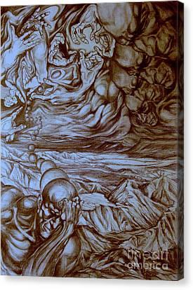 Titan In Desert Canvas Print by Mikhail Savchenko