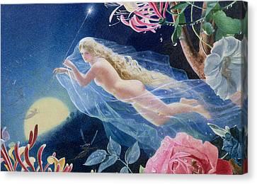 Titania Flying Canvas Print by John Simmons
