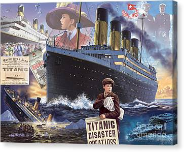 Titanic - Landscape Canvas Print by MGL Meiklejohn Graphics Licensing