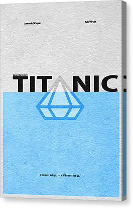 Titanic Canvas Print by Ayse Deniz