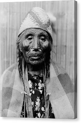 Tlakluit Indian Woman Circa 1910 Canvas Print by Aged Pixel